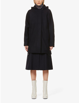 Sessun Nana hooded wool-blend coat
