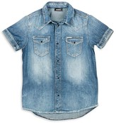 Diesel Boys' Denim Button Down Shirt - Big Kid
