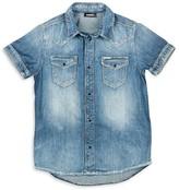 Diesel Boys' Denim Button Down Shirt - Big Kid