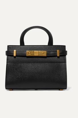Saint Laurent Manhattan Micro Textured-leather Tote - Black