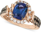 LeVian Le Vian Chocolatier Tanzanite (2 ct. t.w.) and Diamond (5/8 ct. t.w.) Ring in 14k Rose Gold, Created for Macy's