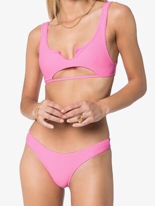 Frankie's Bikinis Cole cutout bikini top