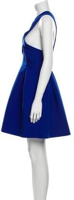 Aq/Aq V-Neck Mini Dress Blue V-Neck Mini Dress
