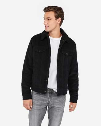 Express Cotton Corduroy Sherpa Trucker Jacket