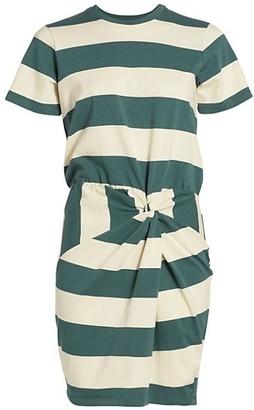 Veronica Beard Tyla Striped T-Shirt Dress