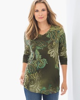 Chico's Paisley V-Neck Top