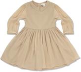 Marie Chantal Glitter Piped Silk Dress