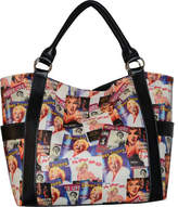 Monroe Marilyn Forever Beautiful Collage Shopping Bag MM614 (Women's)