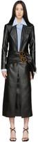 Materiel Tbilisi Black Faux-Leather Belt Coat