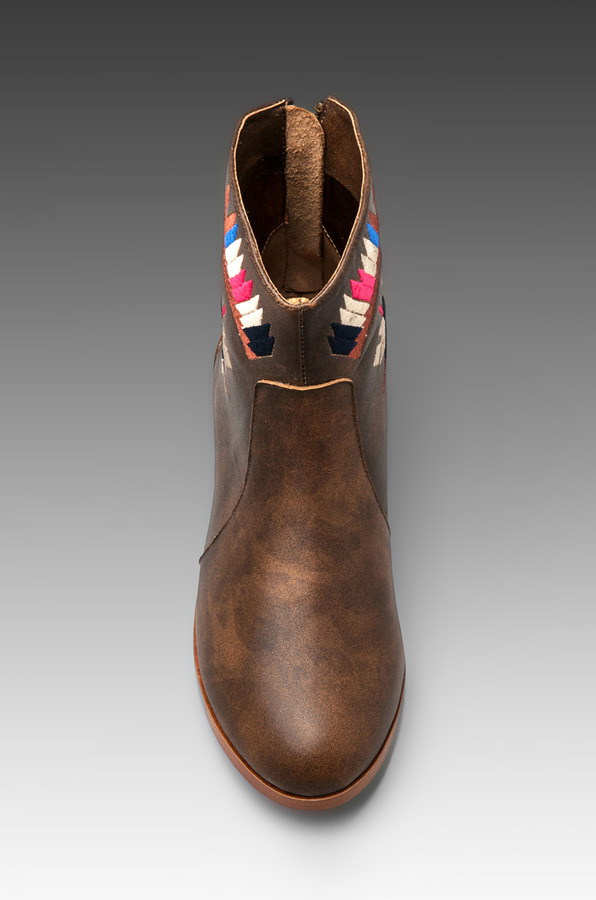 Twelfth St. By Cynthia Vincent By Cynthia Vincent Goldie Embroidered Flat Ankle Boot