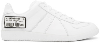 Maison Margiela White Barcode Sneakers