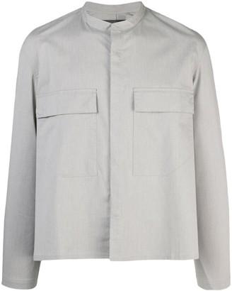 SIKI IM grey pinstripe shirt