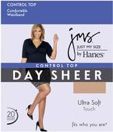 Just My Size Womens Control Top, Reinforced Toe Pantyhose 4-Pack