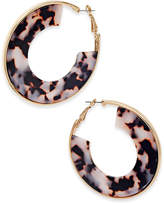 Thalia Sodi Gold-Tone Tortoiseshell-Look Hoop Earrings, Only at Macy's