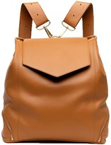 The Professional Leather Backpack Purse In Caramel