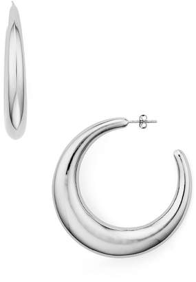 Aqua Large Crescent Hoop Earrings - 100% Exclusive