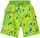 I Play Pocket Trunks With Built-in Swim Diaper (Baby) - Lime Toucan - 24 Months