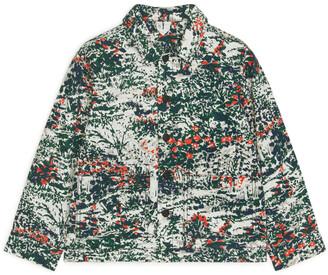 Arket Printed Twill Overshirt