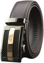 TRURENDI Mens Automatic Buckle Genuine Leather Waist Strap Belts