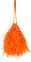 ATTICO Feather Pouch Bag in Orange | FWRD