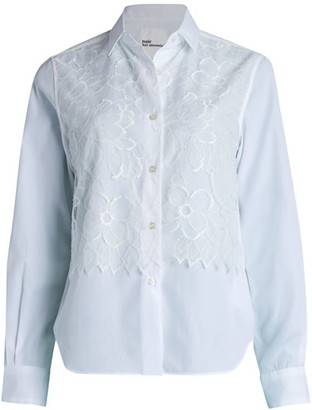 Noir Kei Ninomiya Lace Button Down Shirt