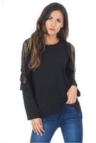 AX Paris Black Lace Insert Top