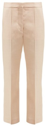 Stella McCartney Cropped Tailored Twill Trousers - Womens - Light Pink