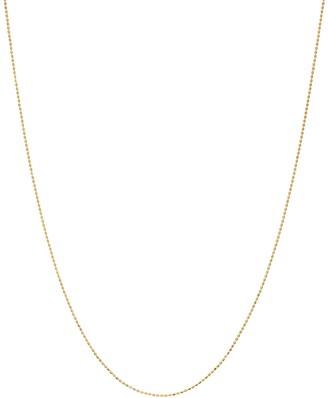 Primavera 24k Gold Over Sterling Silver Grooved Beaded Necklace