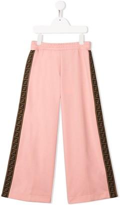 Fendi FF logo tape casual trousers
