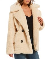 Free People Notched Teddy Peacoat Jacket