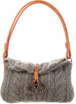 Valentino Cable Knit Cashmere Shoulder Bag