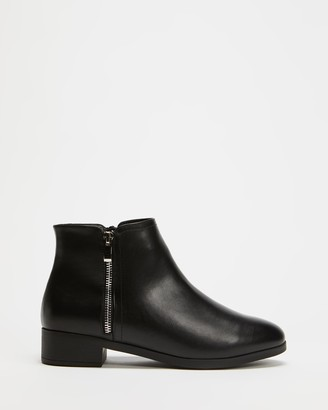 Spurr Women's Black Heeled Boots - Palin Ankle Boots - Size 5 at The Iconic
