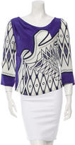 Alberta Ferretti Silk Patterned Blouse