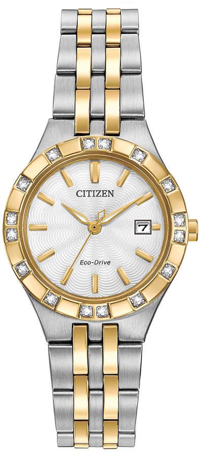 Citizen 27mm Two-Tone Stainless Steel Bracelet Watch w/ Diamonds