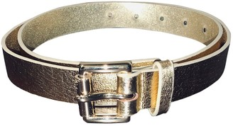 Michael Kors Gold Leather Belts
