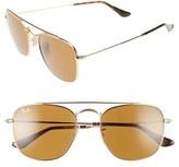 Ray-Ban Women's 54Mm Aviator Sunglasses - Brown/ Gold
