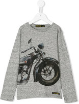 Finger In The Nose motorbike print sweatshirt