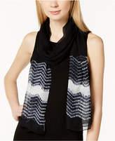 Eileen Fisher Sheer Wool Printed Scarf