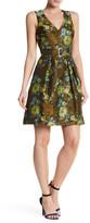 Karen Millen Military Floral Jacquard Dress