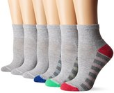 Hanes Women's Cool and Dry Ankle Pack of 6