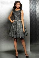 Jovani Metallic Sleeveless Fit and Flare Cocktail Dress M349