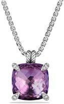 David Yurman Ch'telaine Pendant with Amethyst and Diamonds