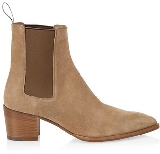 Christian Louboutin William Suede Western Ankle Boots
