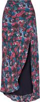 Haute Hippie Floral-print silk maxi skirt