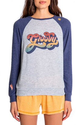 PJ Salvage Retro Revival Groovy Graphic Pullover