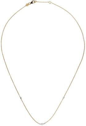 White Bird 18kt yellow gold and platinum Gaelle diamond necklace