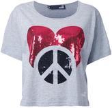 Love Moschino sequined logo T-shirt
