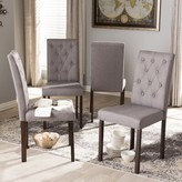 Baxton Studio Andrew Upholstered Dining Chair Ophelia & Co. Upholstery Color: Gray