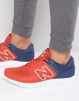 New Balance 574 Trainers In Red Mfl574pb