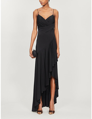 Alexandre Vauthier Draped asymmetric stretch-jersey gown